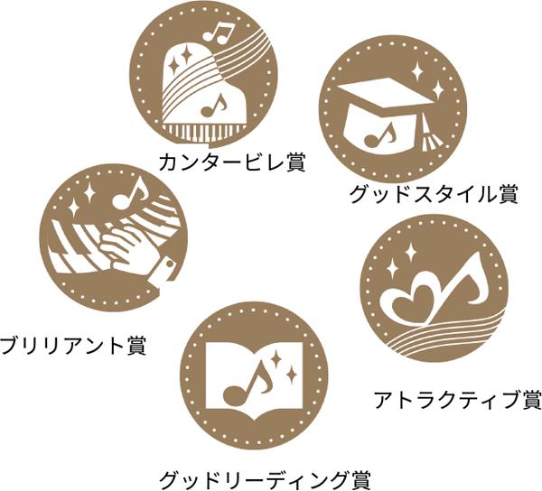 5つの特別賞 カンタービレ賞 グッドスタイル賞 アトラクティブ賞 グッドリーディング賞 ブリリアント賞
